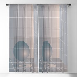 Shape study #6 - Memphis Collection Sheer Curtain