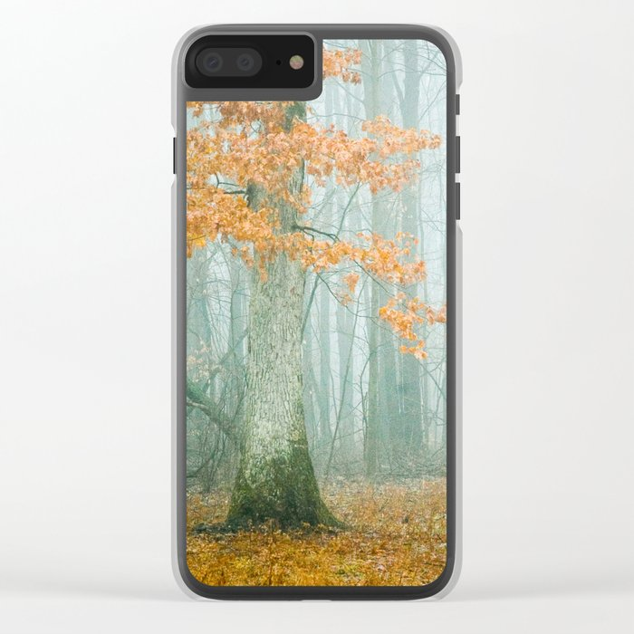 Autumn Woods Clear iPhone Case