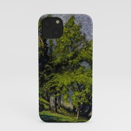 Chestnut Trees above a River iPhone Case