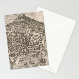 Vintage Map of Catania Italy (1597) Stationery Cards