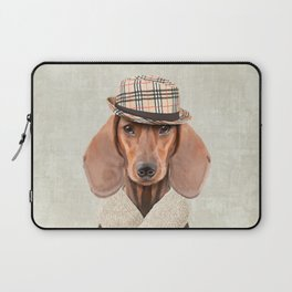 The stylish Mr Dachshund Laptop Sleeve