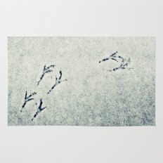Bird Foot Prints Rug