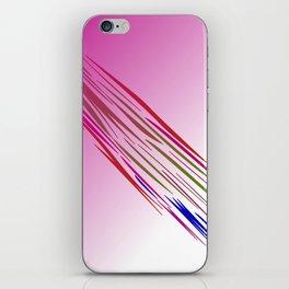 wild lines tiger pink iPhone Skin