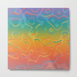 Colorful Holographic Foil Pattern 3d Texture Trendy Colors Metal Print