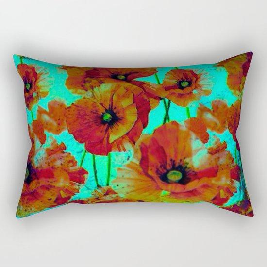 marsala floral Rectangular Pillow