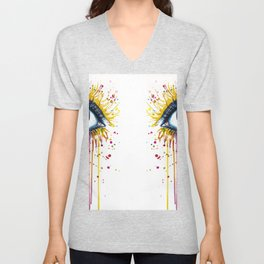 Color Eyes Unisex V-Neck