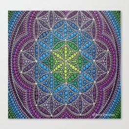 Mandala Flower of Life Canvas Print
