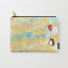 Penguin and a Red Balloon Carry-All Pouch