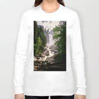 yosemite Long Sleeve T-shirts featuring Yosemite Waterfall by Loaded Light Photography