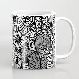 Squirrels Zentangle Drawing White Coffee Mug