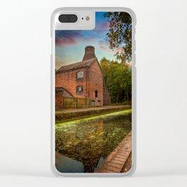 Coalport Bottle Kiln Sunset Clear iPhone Case