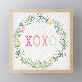 xoxo Framed Mini Art Print