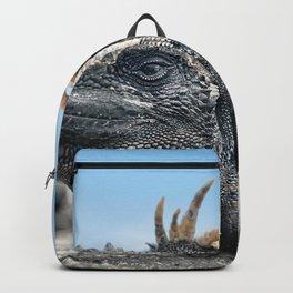 Funny rasta hair marine iguana Backpack