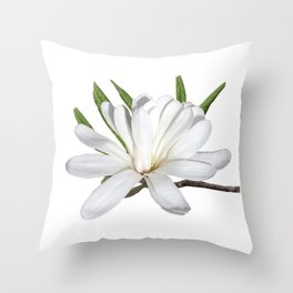 The Flower is the Star (Magnolia) Throw Pillow
