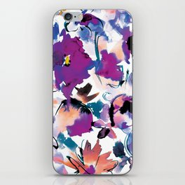 Sara Floral Blue iPhone Skin