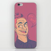 crowley iPhone & iPod Skins featuring Crowley by The Art of Nicole