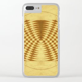 Alien crop circle. Sacred geometry. Clear iPhone Case