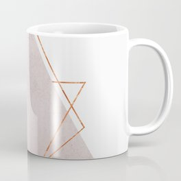 BLUSH COPPER ROSE GOLD GEOMETRIC SYNDROME Coffee Mug