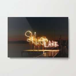 Silver Lake Nights Metal Print