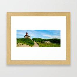 The North Light, Block Island, RI Framed Art Print