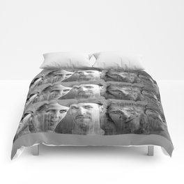 WARNER DRIVE portraits - black Comforters