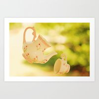 Floating Tea Art Print