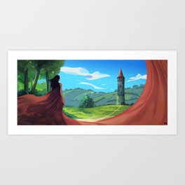 Going There Art Print