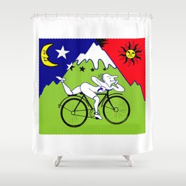 The 1943 Bicycle Lsd Shower Curtain
