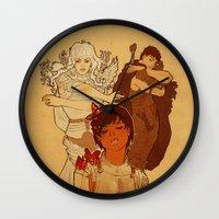 berserk Wall Clocks featuring Sacrifice by Marta Milczarek