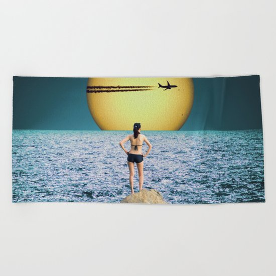 Say Goodbye Beach Towel