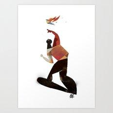 kamikaze kite Art Print