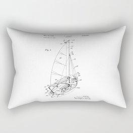 patent art Court Sailboat 1964 Rectangular Pillow