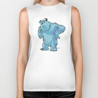 """monsters inc Biker Tanks featuring Monsters, Inc. 