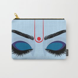 Indian god krishna eyes on blue skin Carry-All Pouch
