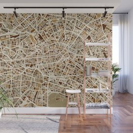 Berlin Germany Street Map Wall Mural