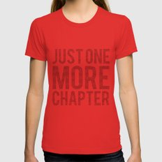 Just One More Chapter  X-LARGE Red Womens Fitted Tee