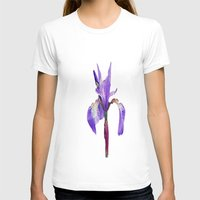 iris T-shirts featuring Iris by Lynn Bolt