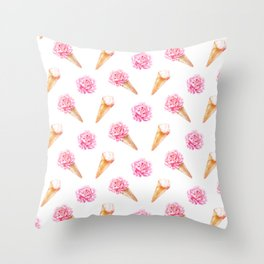 Floral Cones Throw Pillow