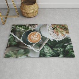 Latte + Plants II Rug