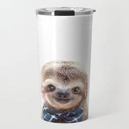 Baby Sloth With Bow Tie, Baby Animals Art Print By Synplus Travel Mug
