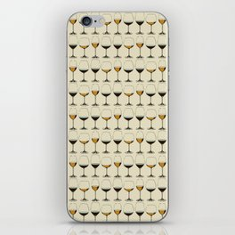 Vintage Wine Glasses iPhone Skin