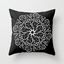 Trepadora Blanca Throw Pillow