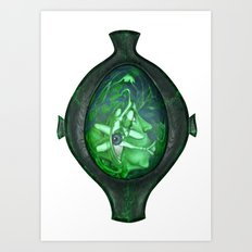 Eye green Art Print