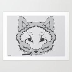 Pirate Fox Art Print