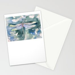 Dragonfly Watercolor Art Stationery Cards