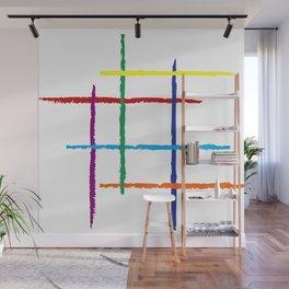 Grunge rainbow lines Wall Mural