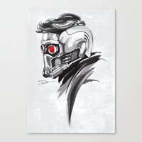 star lord Canvas Prints featuring Star Lord by Dik Low