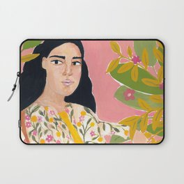 Floral Lady Laptop Sleeve