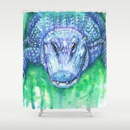 Blue Gator Shower Curtain