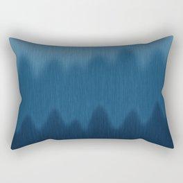 Wavy Digital Denim Blue Jean Pattern Rectangular Pillow